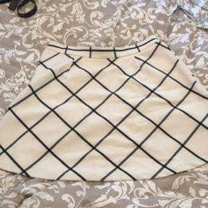 Loft windowpane skirt